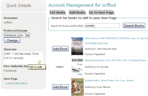 Add Book to User Page
