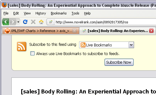 Firefox RSS Live Bookmarks