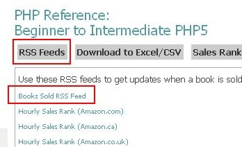 RSS Feed Book Sales